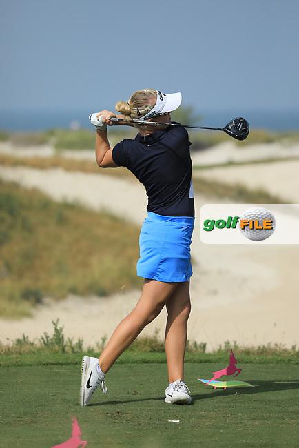 Nicole Broch Larsen (DEN) during the first round of the Fatima Bint Mubarak Ladies Open played at Saadiyat Beach Golf Club, Abu Dhabi, UAE. 10/01/2019<br /> Picture: Golffile | Phil Inglis<br /> <br /> All photo usage must carry mandatory copyright credit (© Golffile | Phil Inglis)
