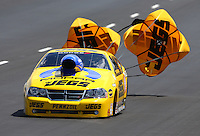 Jul. 20, 2013; Morrison, CO, USA: NHRA pro stock driver Jeg Coughlin during qualifying for the Mile High Nationals at Bandimere Speedway. Mandatory Credit: Mark J. Rebilas-