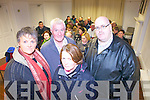 Organisers Noelle O'Connell, Liam Walsh, Patsy Green and Stephen Keane pictured last Thursday night in The Seanchaí for a special community meeting about proposed cuts to the Community Employment Scheme.