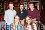 Last Teen<br /> -------------<br /> Sarah Redmond, from Keel, seated Rt, celebrated her 19th birthday last Saturday night in Cassidy's, Tralee, also seated is Gemma Teehan, back L-R Greg Leahy, Isabella Stein with Michael Moran.