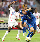 09 July 2006: Francesco Totti (ITA) (10) avoids the challenge of Claude Makelele (FRA) (6). Italy tied France 1-1 in overtime at the Olympiastadion in Berlin, Germany in match 64, the championship game, of the 2006 FIFA World Cup Finals. Italy won the World Cup by defeating France 5-3 on penalty kicks.