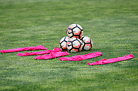 Piscataway, NJ - Sunday April 30, 2017: balls and pinnies during a regular season National Women's Soccer League (NWSL) match between Sky Blue FC and FC Kansas City at Yurcak Field.