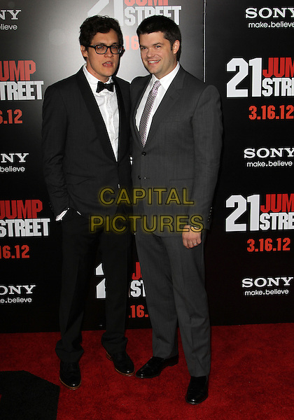 "Phil Lord, Chris Miller.""21 Jump Street"" Los Angeles Premiere Held At Grauman's Chinese Theatre, Hollywood, California, USA..March 13th, 2012.full length black grey gray suit.CAP/ADM/KB.©Kevan Brooks/AdMedia/Capital Pictures."