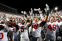 "Ohio State Buckeyes players sing ""Carmen Ohio"" following the NCAA football game against the Penn State Nittany Lions at Beaver Stadium in University Park, Pa. on Sept. 29, 2018. The Buckeyes won 27-26. [Adam Cairns / Dispatch]"