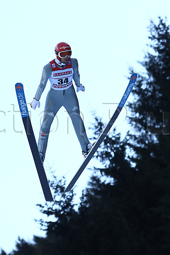 12th January 2018, Val di Fiemme, Fiemme Valley, Italy; FIS Nordic Combined World Cup, Mens Gundersen; Bjoern Kircheisen (GER)