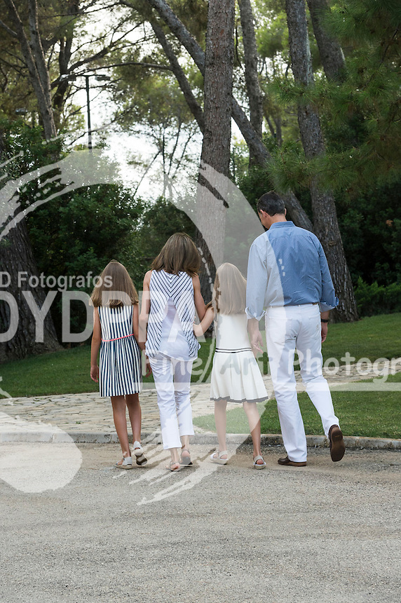 Princess of Asturias Leonor; Princess Sofia; King Felipe VI of Spain; Queen Letizia of Spain