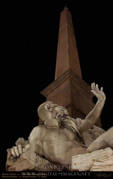 Rio de la Plata GianLorenzo Bernini Agonalis Obelisk Piazza Navona Rome