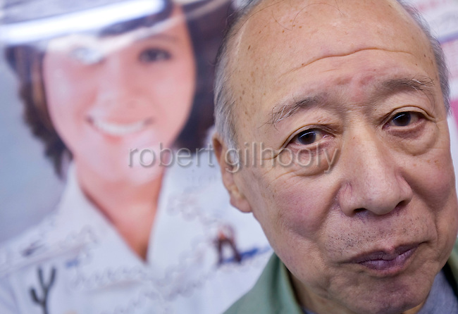 Porn star Shigeo Tokuda, 77, poses for a photo in Tokyo, Japan on 17 Oct. 2011. Photograph: Robert Gilhooly