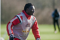 SWANSEA, WALES - JANUARY 28:Bafetibis Gomis of Swansea City during training on January 28, 2015 in Swansea, Wales.