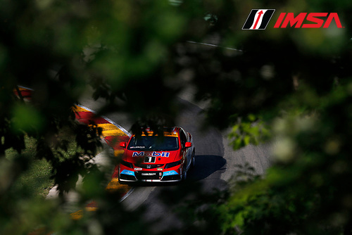 8-9 August 2014, Elkhart Lake, Wisconsin USA<br />  4, Honda, Civic Si, ST, Juan Carlos Leroux, Jorge Leroux<br /> &copy;2014, Michael L. Levitt<br /> LAT Photo USA for IMSA