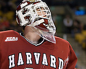 Steve Michalek (Harvard - 34) - The Harvard University Crimson defeated the Northeastern University Huskies 3-2 in the 2012 Beanpot consolation game on Monday, February 13, 2012, at TD Garden in Boston, Massachusetts.