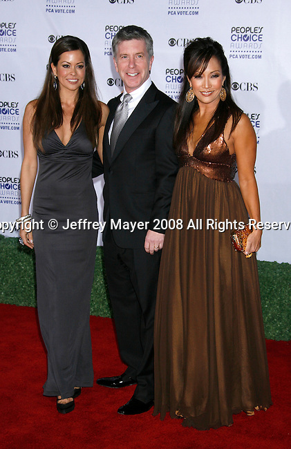 LOS ANGELES, CA. - January 07: TV Personalities Brooke Burke, Tom Bergeron and Carrie Ann Inaba arrives at the 35th Annual People's Choice Awards held at the Shrine Auditorium on January 7, 2009 in Los Angeles, California.