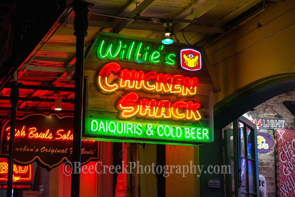 Neon sign in the french quarters