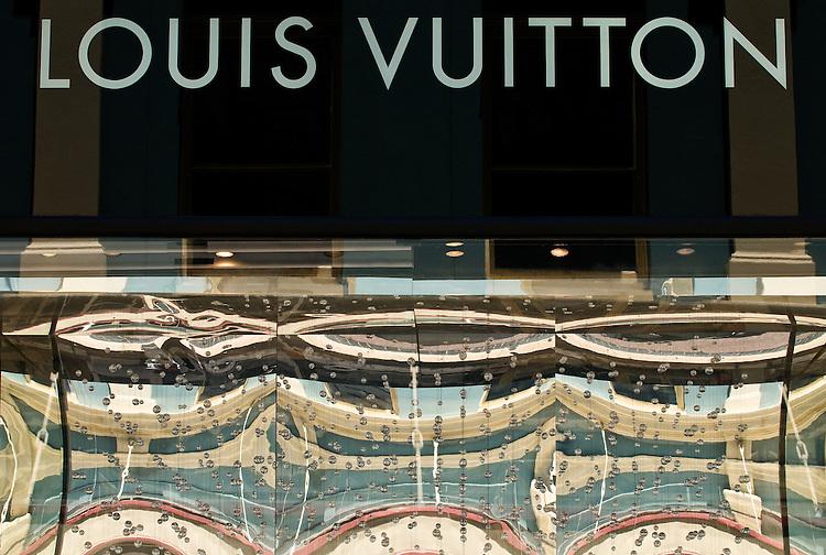 Louis Vuitton - Louis Vuitton shopfront sign, King St, Perth, Western Australia