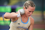 EUGENE, OR - JUNE 09: Jaclyn Siefring of Akron University reacts to her finish in the shot put as part of the Heptathlon during the Division I Women's Outdoor Track & Field Championship held at Hayward Field on June 9, 2017 in Eugene, Oregon. (Photo by Jamie Schwaberow/NCAA Photos via Getty Images)