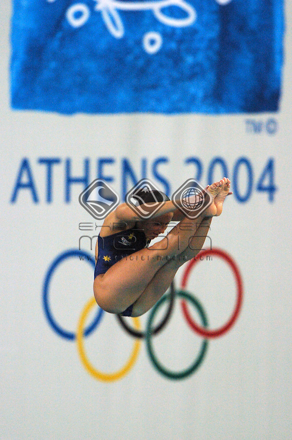 Loudy Tourky (AUS)<br /> Diving - Women's 10m Platform semi final<br /> Summer Olympics - Athens Greece 2004<br /> Day 08, 21 August 2004.<br /> &copy; Sport the library/Ryan Gormly
