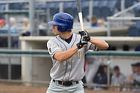 August 7, 2007: Tri-City Dust Devils' outfielder Brian Rike waits for a pitch against the Everett AquaSox in a Northwest League game at Everett Memorial Stadium in Everett, Washington.