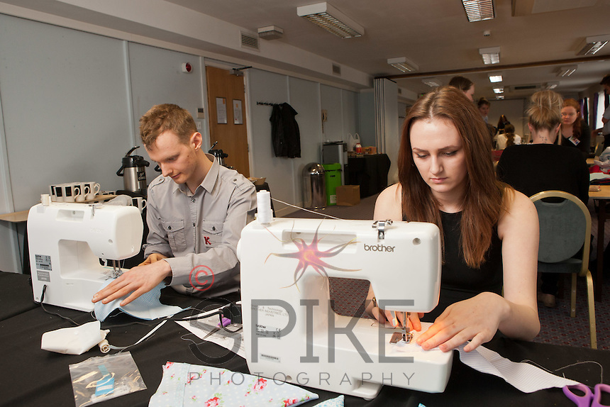 Staff experienced an unsual induction training day for the soon to be opened Derby Hobbycraft store.