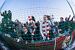 Södertälje 2013-03-31 Fotboll Allsvenskan , Syrianska FC - Kalmar FF :  .Kalmar fans är glada efter matchen.( Foto: Kenta Jönsson )  Nyckelord:  jubel glädje lycka glad happy supporter fans publik supporters