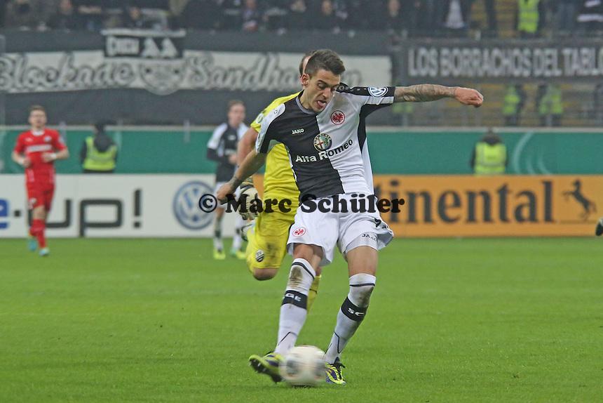 Joselu (Eintracht) erzielt das 4:2 - Eintracht Frankfurt vs. SV Sandhausen, DFB-Pokal, Commerzbank Arena