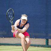 June 14th 2017, Nottingham, England; WTA Aegon Nottingham Open Tennis Tournament day 5; Julia Boserup of USA plays a backhand  against Dona Vekic of Croatia