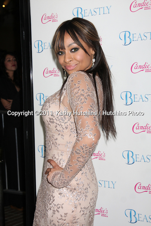 "LOS ANGELES - FEB 24:  Raven-Symone arrives at the ""Beastly"" Premiere at Pacific Theaters at The Grove on February 24, 2011 in Los Angeles, CA"