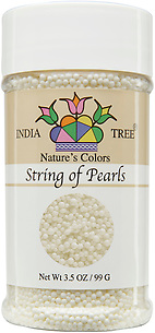 10811 Nature's Colors natural String of Pearls, Small Jar 3.5 oz, India Tree Storefront