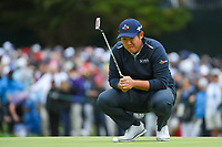 Byeong Hun An (KOR) looks over his putt on 3 during round 4 of the 2019 US Open, Pebble Beach Golf Links, Monterrey, California, USA. 6/16/2019.<br /> Picture: Golffile | Ken Murray<br /> <br /> All photo usage must carry mandatory copyright credit (© Golffile | Ken Murray)
