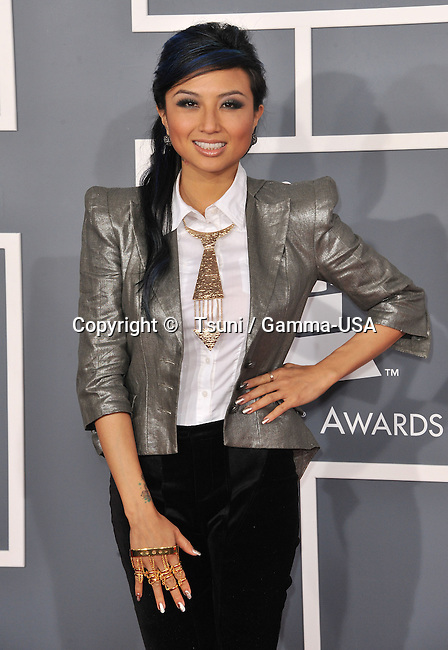 jeannie Mai   at  the 55th Ann. Grammy Awards 2013 at the Staples Center in Los Angeles.