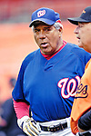 19 May 2007: Washington Nationals bench coach Pat Corrales watches batting practice prior to facing the Baltimore Orioles at RFK Stadium in Washington, DC. The Orioles defeated the Nationals 3-2 in the second game of the 3-game interleague series...Mandatory Photo Credit: Ed Wolfstein Photo