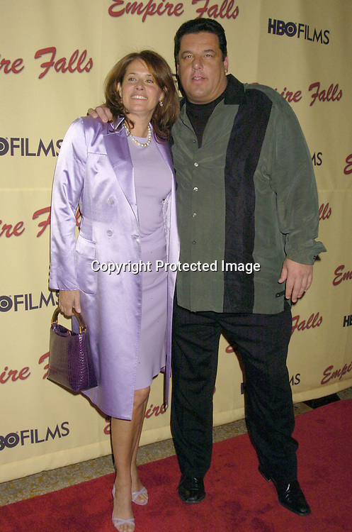"Lorraine Bracco and Steve Schirripa of the Sopranos..at a screening of HBO Films ""Empire Falls"" at the Metropolitan Museum of Art on May 9, 2005..Photo by Robin Platzer, Twin Images"