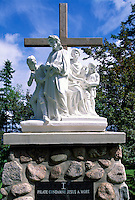 Caraquet, NB, New Brunswick, Canada - the First Station of the Cross at Sainte-Anne-du-Bocage, a Catholic Sanctuary