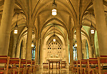 The beauty of Washington, DC's Washington National Cathedral is evident in this high dynamic range image of Bethlehem Chapel on the Cathedral's lower level.