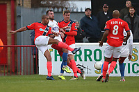 Remy Clerima of Maidenhead scores the first goal for his team during Dagenham & Redbridge vs Maidenhead United, Vanarama National League Football at the Chigwell Construction Stadium on 7th December 2019