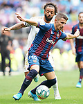 Real Madrid's Marcelo Vieira (b) and Levante UD's Enis Bardhi during La Liga match. September 14,2019. (ALTERPHOTOS/Acero)