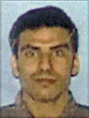 Washington, DC - September 26,  2001 -- Photo released by FBI of  Khalid Almihdhar, one of the alleged hijackers of American Airlines Boeing 757 designated as Flight #77, from Washington Dulles to Los Angeles.  The flight departed Washington Dulles at 8:10 AM on Tuesday, September 11, 2001 and crashed into the Pentagon at 9:39 AM..Credit: FBI via CNP