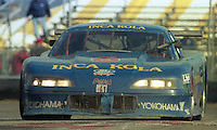 The #6 Ford Mustang of Jorge Koechlin, Raul Orlandini, Juan Dibos, Boris Said and Johnny O'Connell races to an 8th place finish  in the 24 Hours of Daytona, IMSA race, Daytona International Speedway, Daytona Beach , FL, February 4, 1996.  (Photo by Brian Cleary/www.bcpix.com)