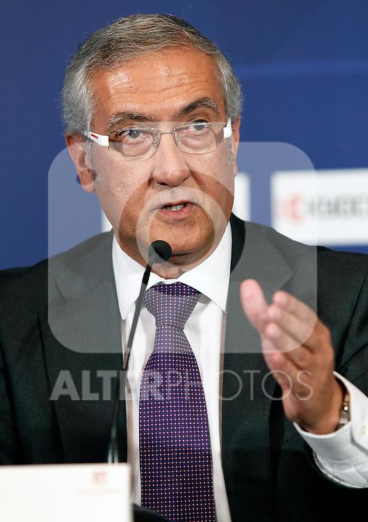 Atletico de Madrid's new coach Gregorio Manzano during his official presentation. June 10, 2011. (ALTERPHOTOS/Acero)