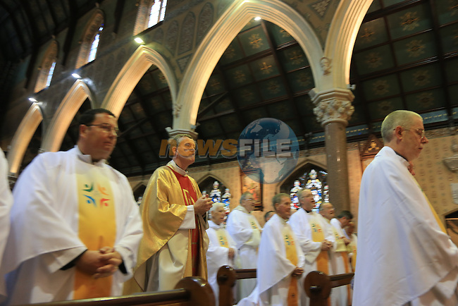 Silver Jubilee celebration mass of Father Denis Nulty PP VF 12/6/88 - 2013<br /> Bishop-elect of Kildare and Leighlin, St St Marys church Drogheda.<br /> Picture:  Fran Caffrey / www.newsfile.ie