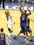 Spain's Serge Ibaka (r) and USA's Andre Iguodala during friendly match.July 24,2012. (ALTERPHOTOS/Acero)