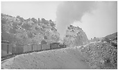 K-28 #473 climbing Barranca Hill with #426 mixed Chili Line train.<br /> D&amp;RGW  Barranca Hill, NM  Taken by Perry, Otto C.