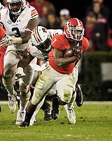 Athens, Georgia - November 10, 2018: Sanford Stadium, the number 5 ranked University of Georgia Bulldogs play the number 24 ranked Auburn University Tigers.  Final score UGA 27, Auburn 10.