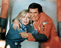 Space: 1999 Season 2 <br /> Martin Landau as Commander John Koenig<br /> Barbara Bain as Dr. Helena Russell <br /> *Filmstill - Editorial Use Only*<br /> CAP/PLF<br /> Image supplied by Capital Pictures /MediaPunch ***NORTH AND SOUTH AMERICAS ONLY***