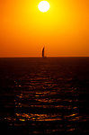 FL: Florida Everglades National Park,.Sunset and boat at Flamingo.Photo Copyright: Lee Foster, lee@fostertravel.com, www.fostertravel.com, (510) 549-2202.Image: flever221