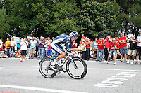 Juan Jose Cobo during the stage of La Vuelta 2012 between Cambados and Pontevedra.Individual Time Trials.August 29,2012. (ALTERPHOTOS/Paola Otero) /Nortephoto.com<br />