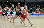 New Zealand&rsquo;s Kelly Jury battles with Wales Bethan Dyke <br /> <br /> Swansea University International Netball Test Series: Wales v New Zealand<br /> Ice Arena Wales<br /> 08.02.17<br /> &copy;Ian Cook - Sportingwales