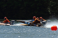 Boats charge the start. (runabout) 3-J
