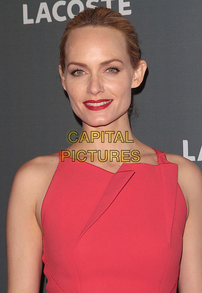 Amber Valletta.The 14th Annual Costume Designers Guild Awards held at the Beverly Hilton Hotel, Beverly Hills, California, USA..February 21st, 2012 .headshot portrait pink lipstick red  sleeveless .CAP/ADM/SLP/JO.©JO/SLP/AdMedia/Capital Pictures