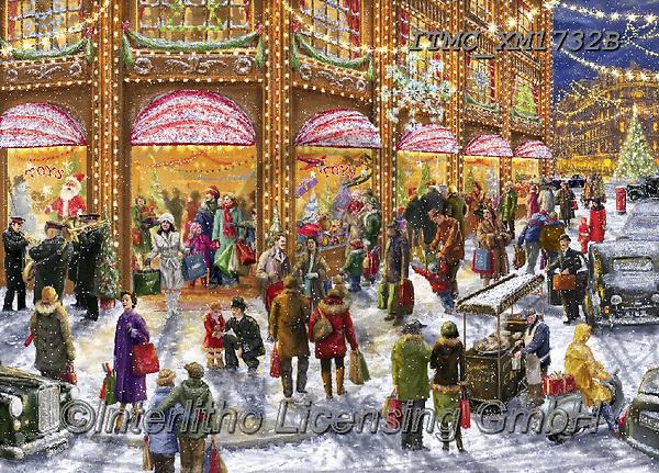 Marcello, CHRISTMAS LANDSCAPES, WEIHNACHTEN WINTERLANDSCHAFTEN, NAVIDAD PAISAJES DE INVIERNO, paintings+++++,ITMCXM1732B,#xl#,puzzle,puzzles,shopping