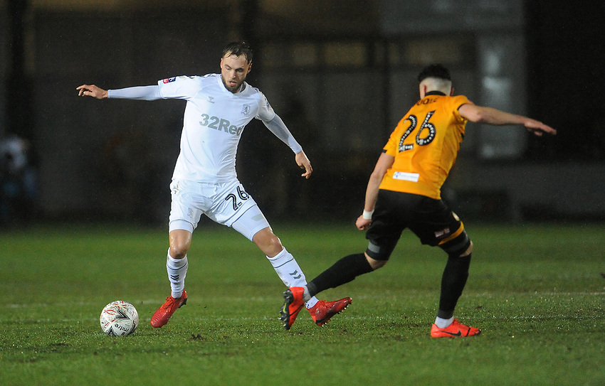 Middlesbrough's Lewis Wing during the game<br /> <br /> Photographer Ian Cook/CameraSport<br /> <br /> Emirates FA Cup Fourth Round Replay - Newport County v Middlesbrough - Tuesday 5th February 2019 - Rodney Parade - Newport<br />  <br /> World Copyright © 2019 CameraSport. All rights reserved. 43 Linden Ave. Countesthorpe. Leicester. England. LE8 5PG - Tel: +44 (0) 116 277 4147 - admin@camerasport.com - www.camerasport.com